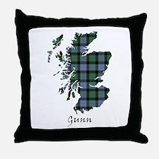 Map - Gunn Throw Pillow