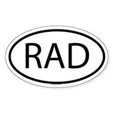RAD Oval Decal