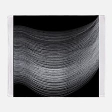 Fine Silver Thread Throw Blanket