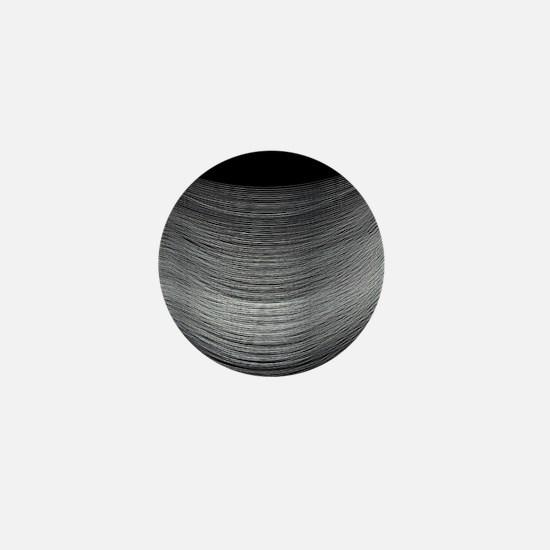 Fine Silver Thread Mini Button