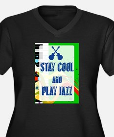 Stay Cool Play Jazz Plus Size T-Shirt