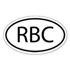 RBC Oval Decal