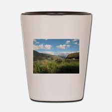 Yellow House in the Andes Shot Glass