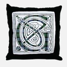 Monogram -Gunn Throw Pillow