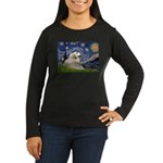 Starry / Gr Pyrenees Women's Long Sleeve Dark T-Sh