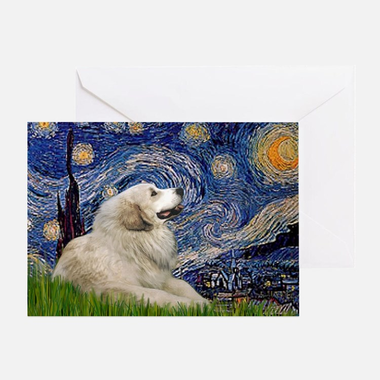 Starry / Gr Pyrenees Greeting Card