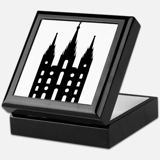Mormon Style Temple Keepsake Box