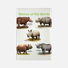 Rhinos of the World Magnets