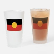 Australian Aboriginal Flag Drinking Glass