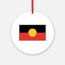 Australian Aboriginal Flag Round Ornament