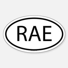 RAE Oval Bumper Stickers