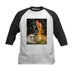 Fairies / Gr Pyrenees Kids Baseball Jersey