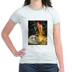 Fairies / Gr Pyrenees Jr. Ringer T-Shirt