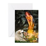 Fairies / Gr Pyrenees Greeting Cards (Pk of 20)