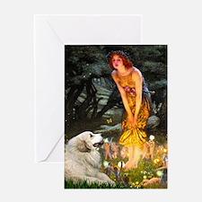 Fairies / Gr Pyrenees Greeting Card