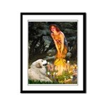 Fairies / Gr Pyrenees Framed Panel Print