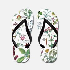 Funny Botanical Flip Flops