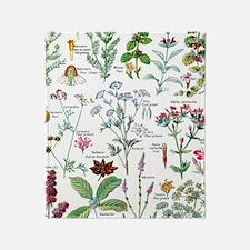 Cute Botany Throw Blanket