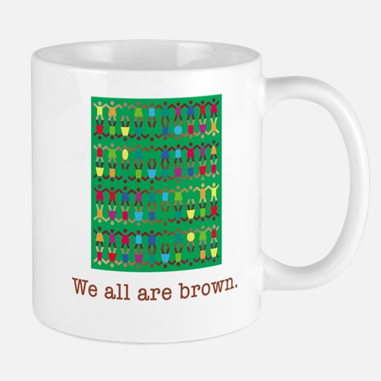all are brown Mugs