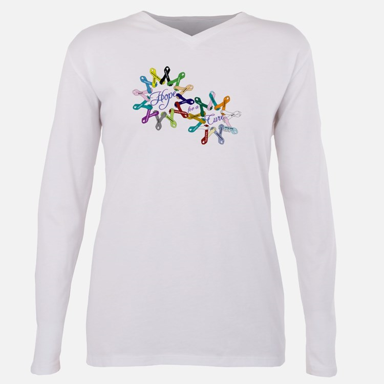 Cute Awareness ribbons Plus Size Long Sleeve Tee
