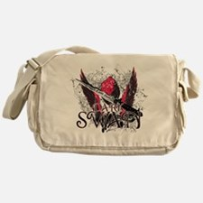Dark Swan Wings Messenger Bag