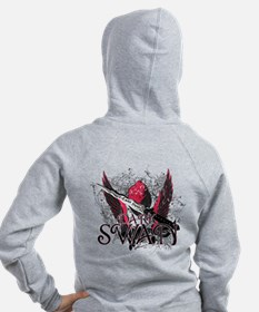 Dark Swan Wings Zip Hoody