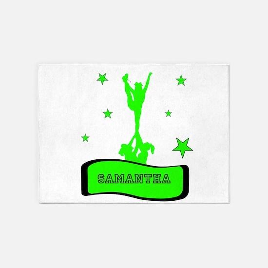 Green Cheerleader 5'x7'Area Rug