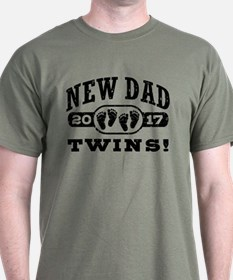 New Dad Twins 2017 T-Shirt