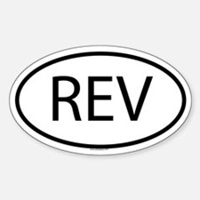 REV Oval Decal