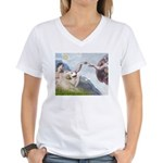 Creation / Gr Pyrenees Women's V-Neck T-Shirt