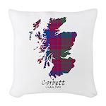 Map - Corbett.Ross Woven Throw Pillow