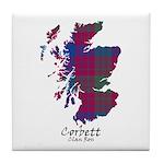 Map - Corbett.Ross Tile Coaster