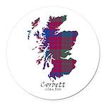 Map - Corbett.Ross Round Car Magnet