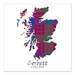 Map - Corbett.Ross Square Car Magnet 3
