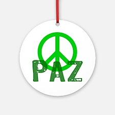 PAZ Peace en Espanol Ornament (Round)