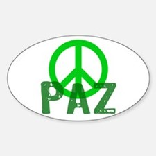 PAZ Peace en Espanol Oval Decal