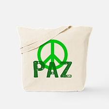 PAZ Peace en Espanol Tote Bag