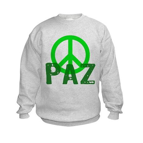 PAZ Peace en Espanol Kids Sweatshirt