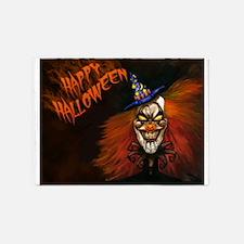 Scary Clown Happy Halloween 5'x7'Area Rug