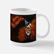 Scary Clown Happy Halloween Mugs