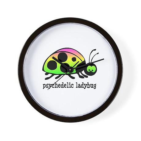 Psychedelic Ladybug Wall Clock