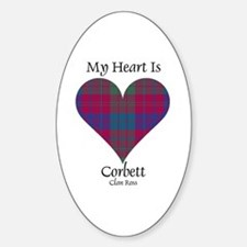 Heart-Corbett.Ross Sticker (Oval)