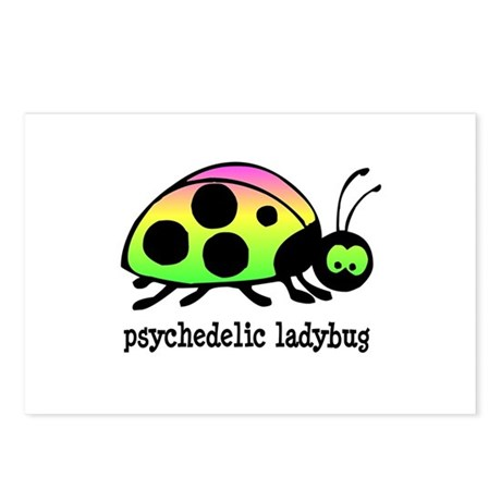 Psychedelic Ladybug Postcards (Package of 8)