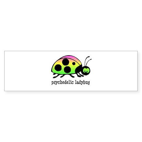 Psychedelic Ladybug Bumper Sticker