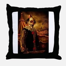 Scary Circus Clown Throw Pillow
