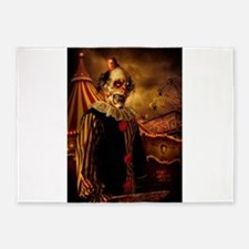 Scary Circus Clown 5'x7'Area Rug