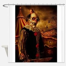 Scary Circus Clown Shower Curtain