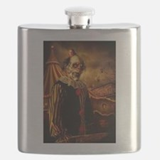 Scary Circus Clown Flask