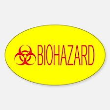HAZMAT: Biohazard (Red & Yellow) Sticker (Oval)