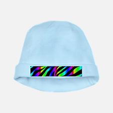 rainbow zebra baby hat